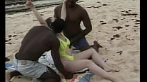 British Young Brunette, Get's Interracial Gangb...
