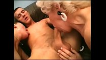 Young stud fucks two horny grannies