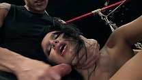 Perfect body, 18 years old Maya B, gets painful...