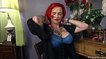 High class redhead escort with huge tits in gla...