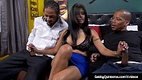 Interracial threesome with Mexican Milf Gabby Q...
