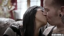 Big tits Asian MILF fucked and sucked a tattooe...