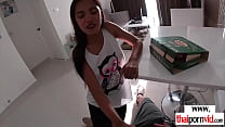 Skinny asian teen slut fucked hard by the deliv...