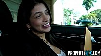 PropertySex - Squirting real estate agent cheers up her client with amazing sex's Thumb