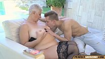 horny gilf gets what she wants; a young cock