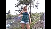Trashy blonde teen picked up and fucked in the woods's Thumb