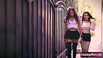 Teen goths Lola Fae and Chanel Grey have the ho...