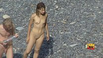 Hidden camera movies from the nudist beach_with cute  naked teens from NudeBeachDreams com Thumbnail