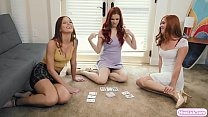 Busty redhead wants to play card game blackjack...