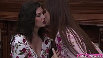 Watch Busty milf Syren De_Mer brings Jessica Rex to her room.She seduces Jessica to have sex with her.Syren kisses Jessica and sucks her tits.After that,She licks Jessicas pussy and in return Jessica licks Syrens pussy before switching to scissor sex. preview