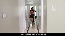 Teen Pies - Sexy Brunette Lacey Channing Stuffe...