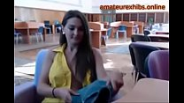 Busty Exhibitionist amateur in the library 12-a...