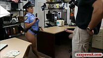 Police officer showing off her enormous boobs t...