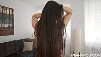 Brunette Wraps Hair Around Your Cock