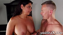 MARISKAX Two naughty big tit brunettes let this...