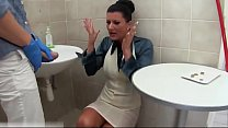 Glamorous pee babe cocksucking in bathroom part 3's Thumb