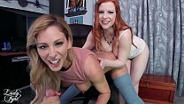 Cherie and Olivia get your learn on pov milf