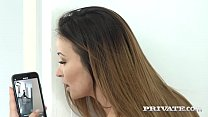 Beautiful Brown Haired Alyssia Kent slobbers on...