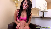 Watch Ebony tgirl shows off her tight asshole preview