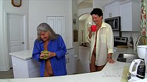 Two Mature Women Have Kitchen Sex PREVIEW