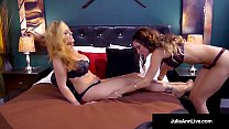 Julia Ann, does some MILF 101 on Lesbian Friend, Jessica Jaymes Thumbnail