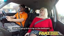 Fake Driving School Busty mature MILF sucks and fucks lucky instructor Thumbnail