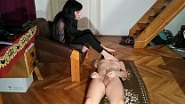 Sexy domina cock tease her stepbrother and get ...