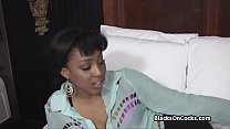 Pounding tight black pussy on audition