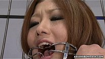 Asian teen used up for a nasty bdsm session