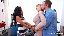 Demi Sutra is a gorgeous athletic girl & Sara J...
