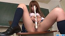 Sana Anzyu plays with her hairy pussy on the teachers desk Thumbnail