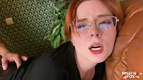 Redhead Blowjob Cock and Hard Pussy Fuck - Cum ...