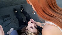 Outdoor Lesbian Spit Humiliation With Two Young...