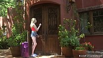 Sexy blonde teen Lexi Lore evicted from apartme...