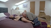 DADDY4K. Fat old man can't resist in front of b...
