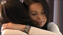 Brunette Lesbians foreplay and finger each other