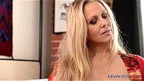 Sexy blonde Milf Julia Ann loves her new stockings she just got, she shows them off for all her members. Join now to see the full video and access to Julia's free live member's show! Thumbnail