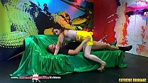 Watch Sexy Curvy babe_Jossy gets her dose of cum in the famous German Goo Girls Arena! Extreme Bukkake preview