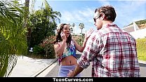 TeenCurves - Curvy Caramel Skinned Hottie Fucked By A Blind Man's Thumb