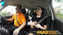 Fake Driving School Sexy Spanish Learner sucks Big Cock for lessons Thumbnail