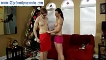 Watch Hot milf mom challenges son to wrestle and gets fucked preview