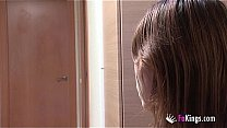 18 years old shy college girl meets and is dril...
