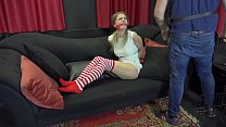 Blonde christmas bdsm slave bound and gagged EP 1