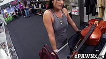 Hottie sells a cello and her pussy