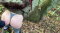 Outdoor pick up redhead and fuck in the forest ...