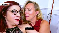 Filthy lesbian cam sex with Mya & Flora using t...