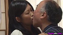 japanese old man fucks the cute college girl