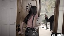 Small tits horny young girl blowjob and hardcor...