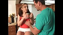 Teen brunette Naughtia Childs gives her pussy r...