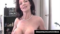 Mighty Milf From Texas - The Deauxma, puts her Saliva Drenched Mouth on top of a hard Cock, Tits Bangs her Lucky Guy & Gets His Cum All Over her Face! FullVideo & DeauxmaLive @DeauxmaLive.com's Thumb